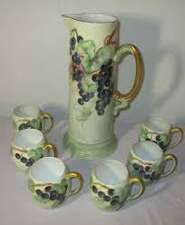 pitchers antique hand painted 2