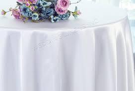 90 round satin tablecloth white 55501 1pc pk
