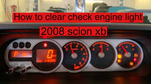 2008 Scion Xb Maintenance Required Light How To Clear Check Engine Light On 2008 Scion Xb