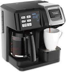 4.5 out of 5 stars 15,881. Amazon Com Hamilton Beach 49976 Flexbrew Trio 2 Way Single Serve Coffee Maker Full 12c Pot Compatible With K Cup Pods Or Grounds Combo Black Kitchen Dining