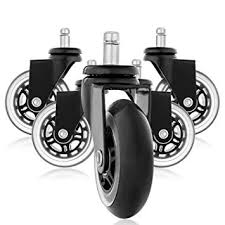 rollerblade style rubber replacement wheels office chair caster wheels for your desk chair quiet