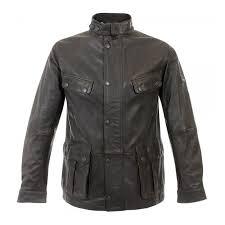 barbour international hurricane brown leather jacket mlt0063br71