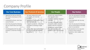 Microsoft Word Presentation Template Company Presentation Template Word Business Report Template For