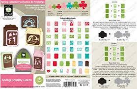 Spring Photo Cards Provo Craft Novelty Cricut Cartridge Spring Holiday Cards