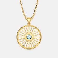 the ashoka chakra pendant
