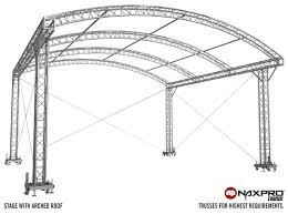 Steel Arch Truss Design Stages With Arched Roof Naxpro Truss