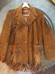 men s vintage sea dream leather western jacket w tassel fringe size 42