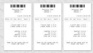 receipt blank restaurant receipt