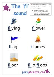 preschool letter worksheet fl sound