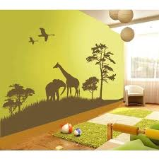 wall decals jungle theme and image of picture of jungle wall decals jungle theme wall decals