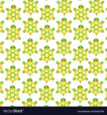 Turtle Pattern Interesting Cute Turtle Pattern Background Royalty Free Vector Image