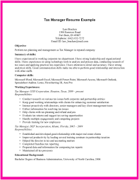 Resume Examples For Managers Resume Templates