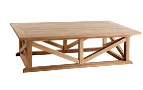 portofino outdoor teak coffee table