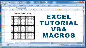 Excel Tutorial Vba Macros How To Create A Number Chart 1 To 100 Using Macro