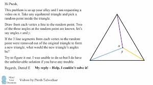 hard geometry problem unbelievably elegant solution mind  i gave the problem a try and also could not figure it out so i asked for help and the solution