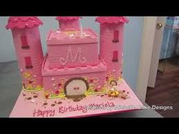 Princess Castle Cake Inspired By Michelle Cake Designs Youtube