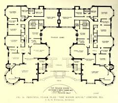 floor plan of the manor house chicago plans old