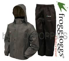 Frogg Togg Rain Gear Size Chart Details About Frogg Toggs Rain Gear As1310 105 Mens All Sport Stone Black Suit Golfing Wear