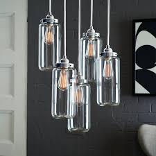 remarkable brushed nickel chandeliers brushed nickel chandelier metal chandelier with 5 jar glass