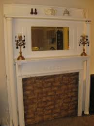 add vintage charm with an antique salvaged fireplace mantel