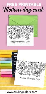 Download our free ecard app. Free Printable Mothers Day Card To Color Print These At Home Now
