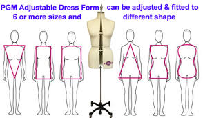 body form adjustable dress form w collapsible shoulder professional sewing