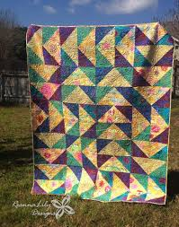Make HUGE Flying Geese Quilt blocks from Layer Cake Squares & Giant Flying Geese Using Layer Cakes | Quilting Pattern | Jen Eskridge |  ReannaLily Designs | Adamdwight.com