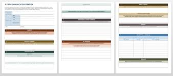 Communication Plan Template Word Free Communication Strategy Templates And Samples Smartsheet