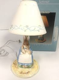 vtg schmid beatrix potter peter rabbit candlestick night lamp nursery baby 1992 1 of 5free see more