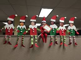 decorating the office for christmas. Picture Santa Paper Art For Office Cubicle Christmas Decoration Decorating The H