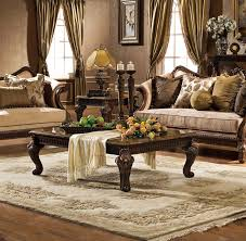 antique dark brown varnished wooden coffee table design along with brown marble top feature beige fl