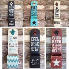 BEER. Because Your Friends Just Aren't That Interesting. Funny Sayings on  Wooden Beer Bottle Opener