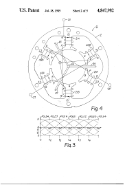 Motor large size patent us4847982 method of winding a three phase one third drawing