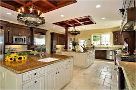 Small Picture big kitchen designs large kitchen design with cherry cabinets