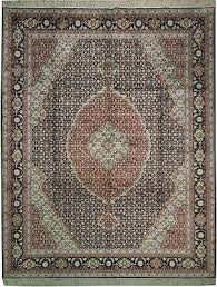 persian style 8x10 authentic silk rug black