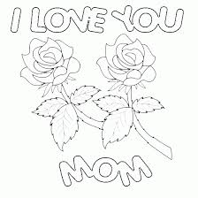 hearts and roses coloring pages coloring mother s day coloring page roses happy1 free coloring