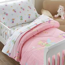 Pink Fairy Princess Toddler Bedding 4pc Bed in a Bag Set Cotton