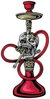 Gothic Shisha With <b>Skull</b>. <b>Grunge</b> Vintage Design For T-shirt <b>Printing</b> ...