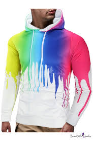 New Trendy 3D Ink <b>Painting Printed</b> Long Sleeve Regular Fitted ...