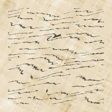 illegible fake scribble handwriting on old parchment paper stock  illegible fake scribble handwriting on old parchment paper stock photo 7381647