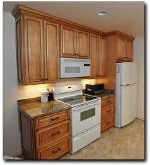 Kitchen: Cheap Compact Kitchen Cabinet Design With White Fridge - Cheap Kitchen  Cabinet Doors