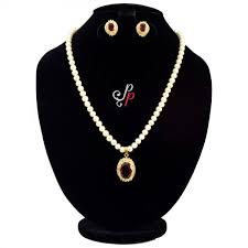 pure pearls pretty pearl set in maroon red stone pendant a13579 1200x1200 jpg