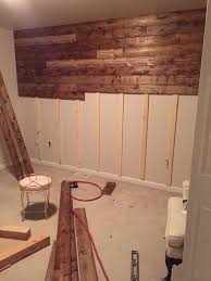 Pallet Wall Bathroom Wood Accent Wall Wood Pinterest Woods And Walls