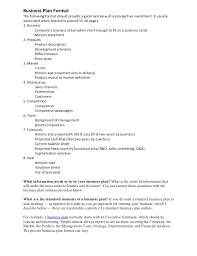 Sample Business Plan Format Magdalene Project Org