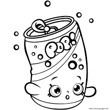 Shopkins Coloring Pages To Print Of Soda Pops Restaurant Soda