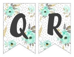 Free Printable Banners Free Printable Alphabet Banner Mint Gold Six Clever Sisters