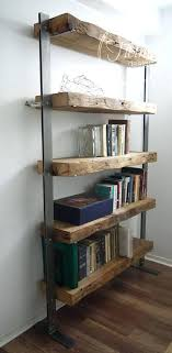 steel bookshelves reclaimed wood bookcase and metal shelves industrial in bookshelf decorations 0 stainless steel bookcase