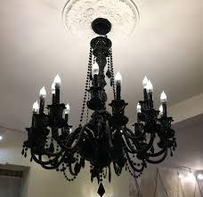 lee s valise 18 arm black crystal chandelier inside design 2