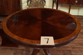 66 round dining table regarding high end mahogany in a walnut finish 48 to plan 7