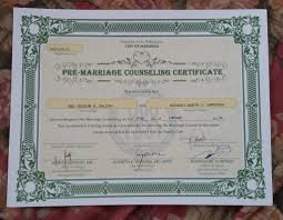 Marriage Counseling Certificate Template Linkinpost Com